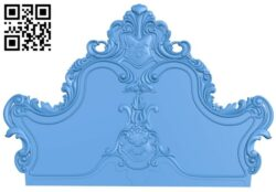 Bed frame pattern A005155 download free stl files 3d model for CNC wood carving