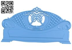 Bed frame pattern A005158 download free stl files 3d model for CNC wood carving