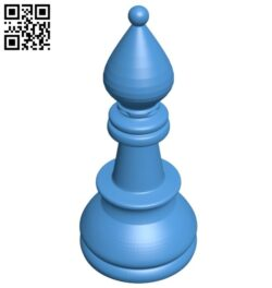 Bishop – chess B007615 file stl free download 3D Model for CNC and 3d printer