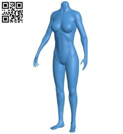 Body without head  B007933 file stl free download 3D Model for CNC and 3d printer
