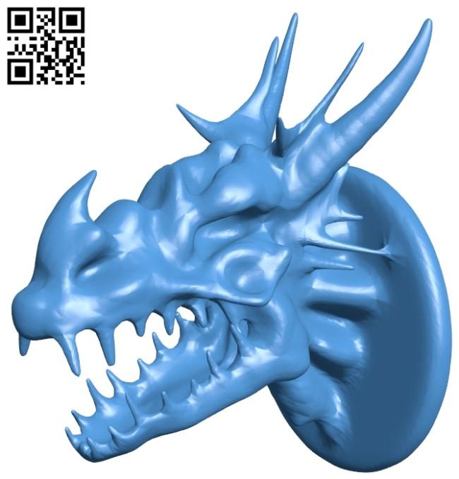 Bone dragon head B007892 file stl free download 3D Model for CNC and 3d printer