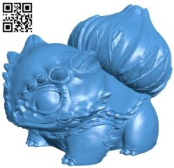 Bulbasaur – pokemon B007598 file stl free download 3D Model for CNC and 3d printer