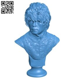 Bust Mr Tyrion B007601 file stl free download 3D Model for CNC and 3d printer