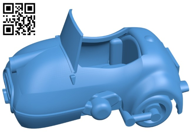 Car Mopetta B008020 file stl free download 3D Model for CNC and 3d printer