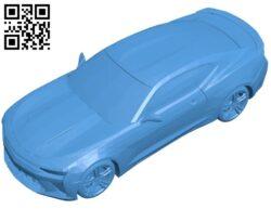 Car chevrolet camaro SS 2017 B008017 file stl free download 3D Model for CNC and 3d printer