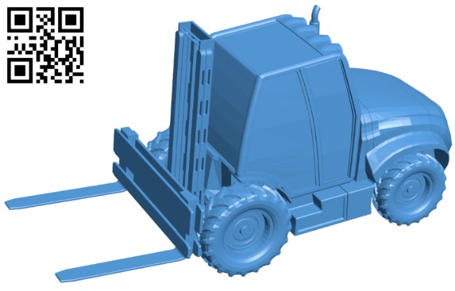 Car forklift B007970 file stl free download 3D Model for CNC and 3d printer