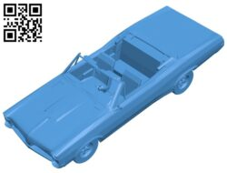 Car pontiac 1966 B007912 file stl free download 3D Model for CNC and 3d printer