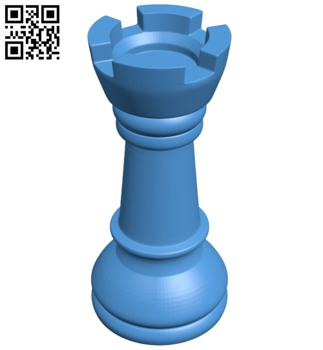 Castle - chess B007616 file stl free download 3D Model for CNC and 3d printer