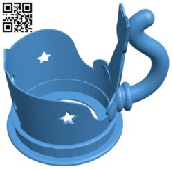 Cat cup holder B007607 file stl free download 3D Model for CNC and 3d printer