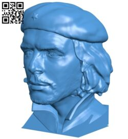 Che Guevara B007614 file stl free download 3D Model for CNC and 3d printer