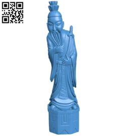 China man B007622 file stl free download 3D Model for CNC and 3d printer