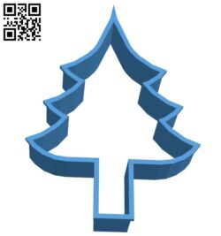 Christmas tree cookie cutter B007870 file stl free download 3D Model for CNC and 3d printer