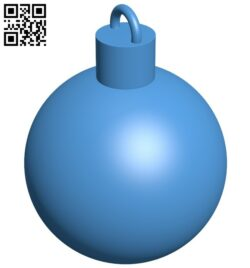 Christmas tree ball B007860 file stl free download 3D Model for CNC and 3d printer