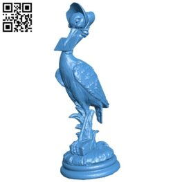 Cicogna stork B007626 file stl free download 3D Model for CNC and 3d printer