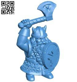 Combatant tiny dwarf man B007883 file stl free download 3D Model for CNC and 3d printer