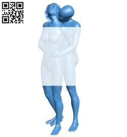 Couple man and women B007633 file stl free download 3D Model for CNC and 3d printer