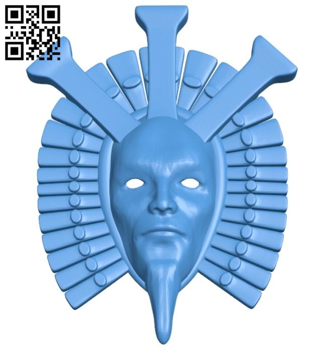 Dagoth Ur mask B007942 file stl free download 3D Model for CNC and 3d printer