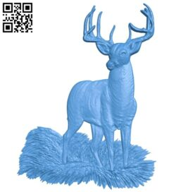 Deer A005056 download free stl files 3d model for CNC wood carving