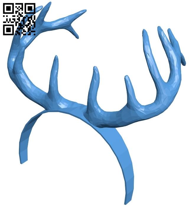 Deer-horn hair pins B007914 file stl free download 3D Model for CNC and 3d printer