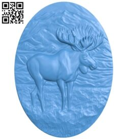 Deer oval picture A005038 download free stl files 3d model for CNC wood carving