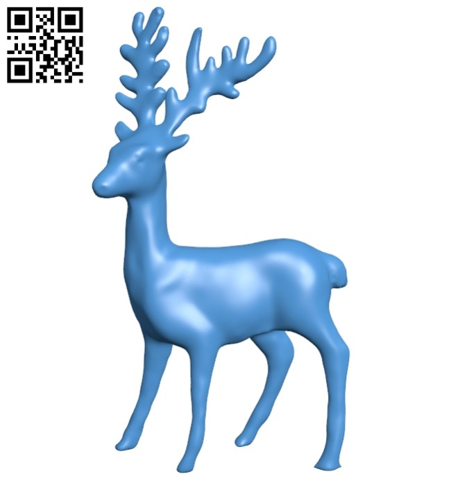 Deer toy B007974 file stl free download 3D Model for CNC and 3d printer