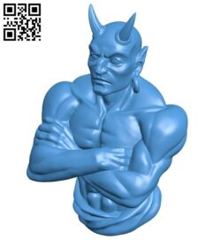 Devil efreet bust B007753 file stl free download 3D Model for CNC and 3d printer