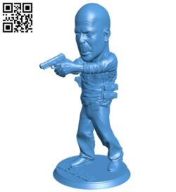 Die hard man B007644 file stl free download 3D Model for CNC and 3d printer