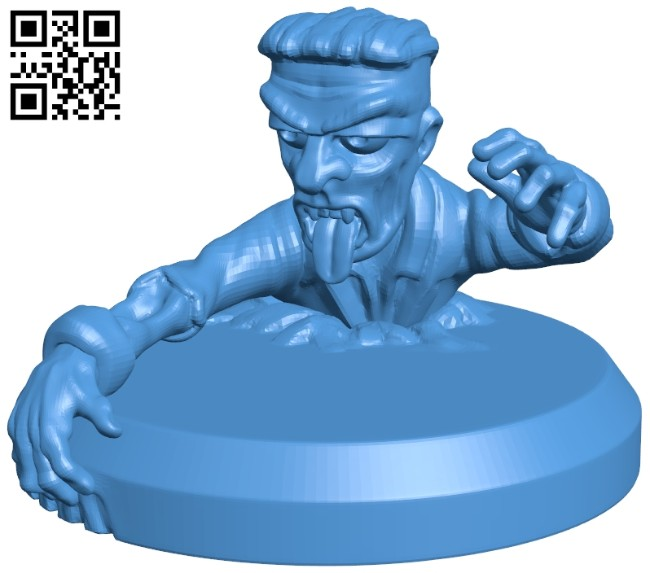 Digging out zombie B008010 file stl free download 3D Model for CNC and 3d printer