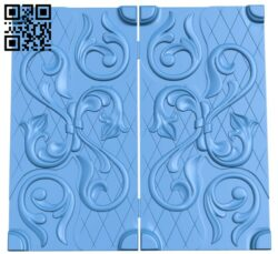 Door pattern A005113 download free stl files 3d model for CNC wood carving