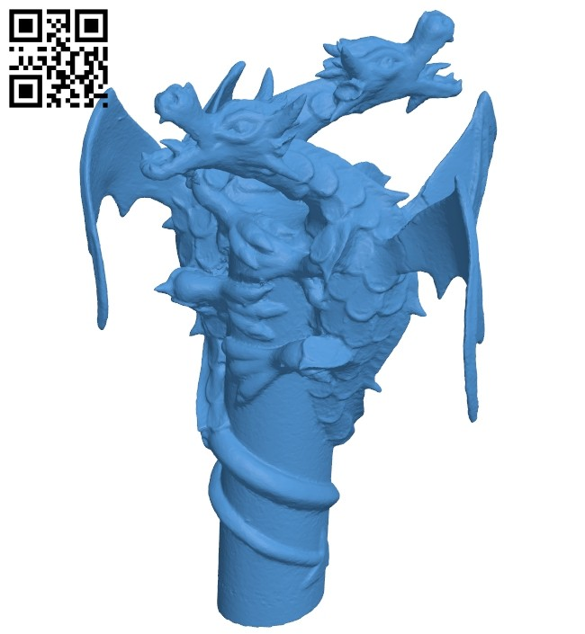 Double dragons B008034 file stl free download 3D Model for CNC and 3d printer