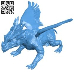 Dragon flying horror B007773 file stl free download 3D Model for CNC and 3d printer