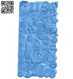 Dragon shaped door pattern A005110 download free stl files 3d model for CNC wood carving