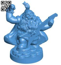 Dwarf rockstar statue man B007663 file stl free download 3D Model for CNC and 3d printer