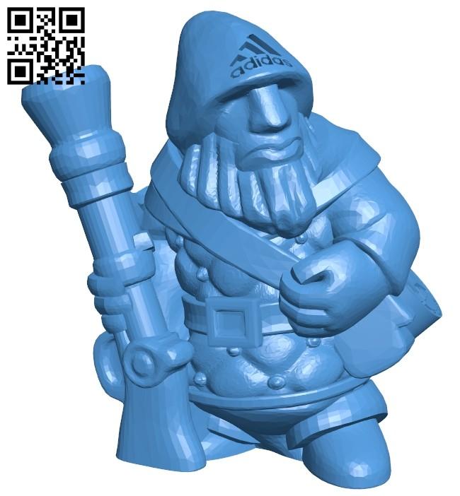 Dwarven gunner - man B007977 file stl free download 3D Model for CNC and 3d printer