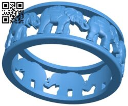 Elephant ring B007869 file stl free download 3D Model for CNC and 3d printer
