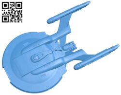 Enterprise NX-01 ship B007758 file stl free download 3D Model for CNC and 3d printer