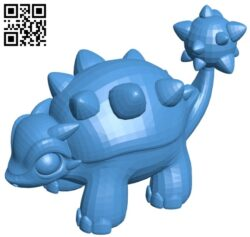 Euoplocephalus – pokemon B007759 file stl free download 3D Model for CNC and 3d printer