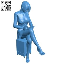 Female accountant B007899 file stl free download 3D Model for CNC and 3d printer