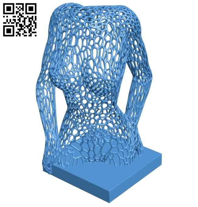 Female body Voronoi B007878 file stl free download 3D Model for CNC and 3d printer