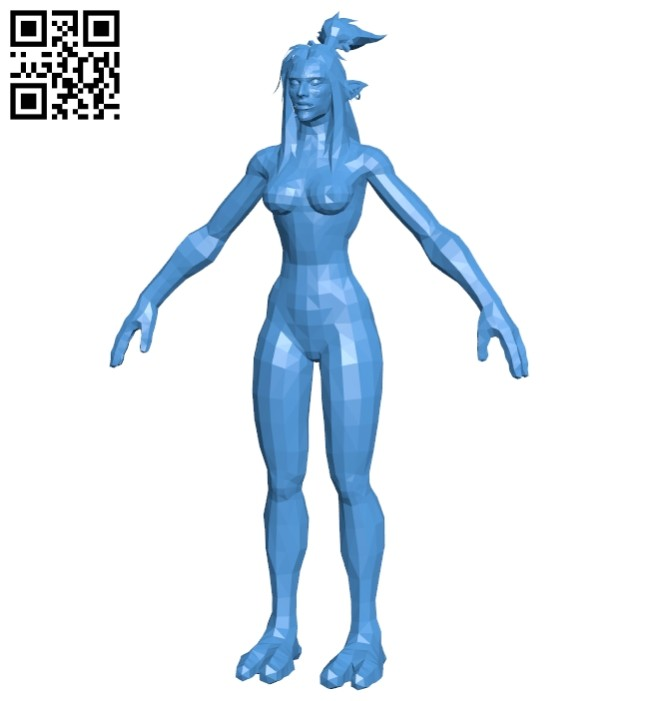 Female troll B008039 file stl free download 3D Model for CNC and 3d printer