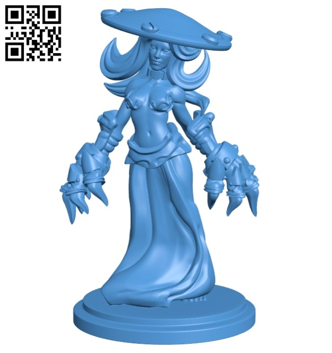 Female warrior in the game B008032 file stl free download 3D Model for CNC and 3d printer