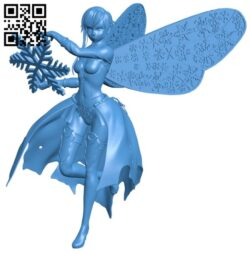 Female wiz frost sprite – snow B007906 file stl free download 3D Model for CNC and 3d printer