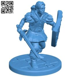 Fighter female B007958 file stl free download 3D Model for CNC and 3d printer