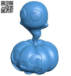 Ghost pumpkin – halloween B007782 file stl free download 3D Model for CNC and 3d printer