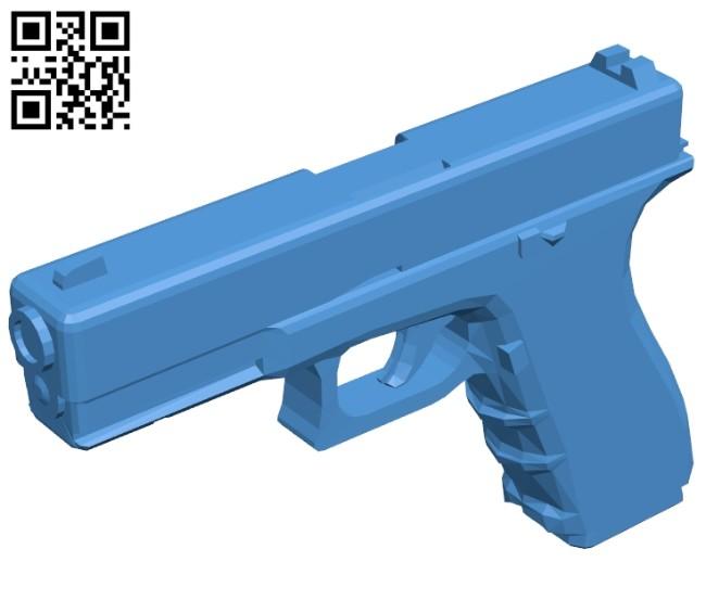 Glock gun B008009 file stl free download 3D Model for CNC and 3d printer