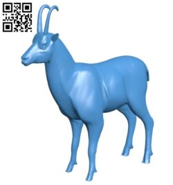 Deer chamois B007613 file stl free download 3D Model for CNC and 3d printer
