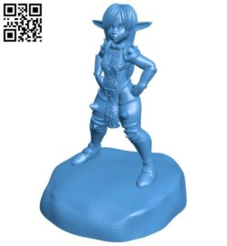 Gob girl victory pose B008016 file stl free download 3D Model for CNC and 3d printer