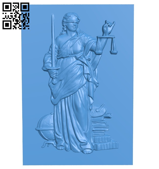 God of justice picture A005173 download free stl files 3d model for CNC wood carving