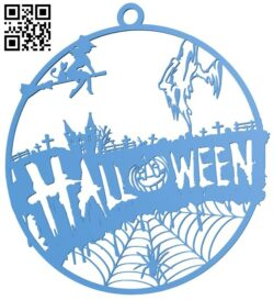 Halloween pendant B007703 file stl free download 3D Model for CNC and 3d printer