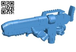 Hellblaster gun B007789 file stl free download 3D Model for CNC and 3d printer